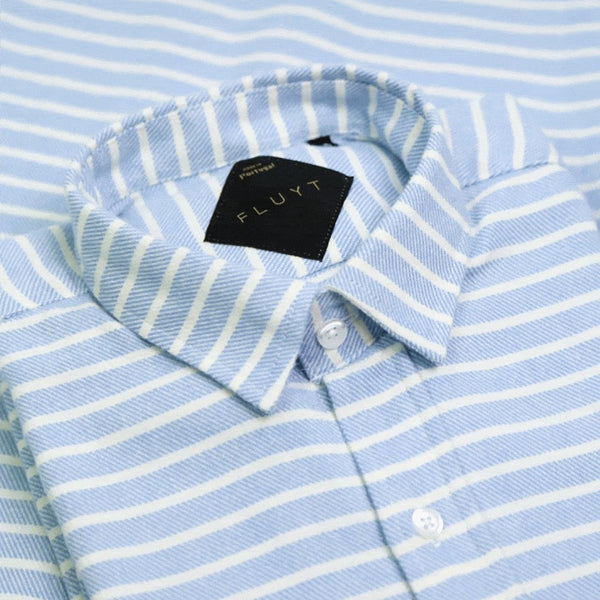 Blue Stripe Flannel Shirt