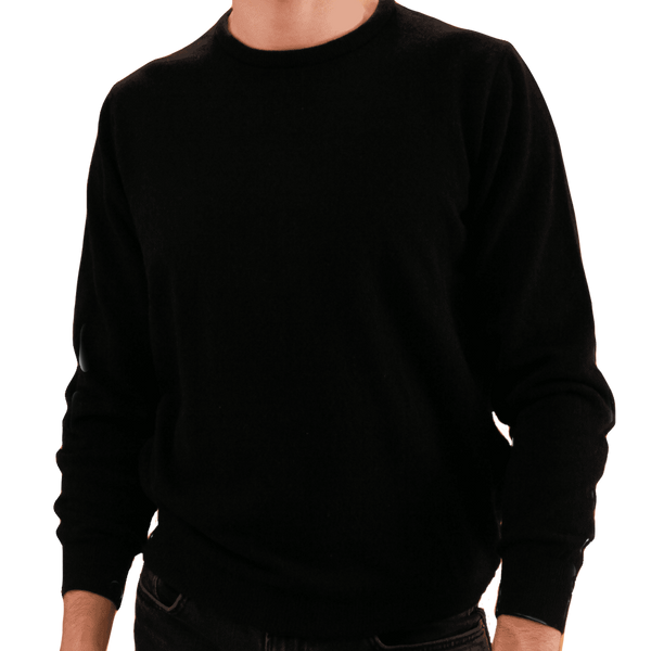 Crew Neck Black Sweater