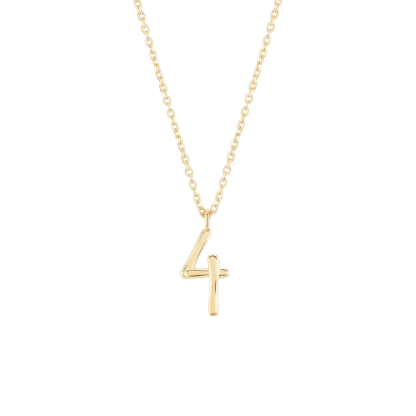 Number 4 Necklace