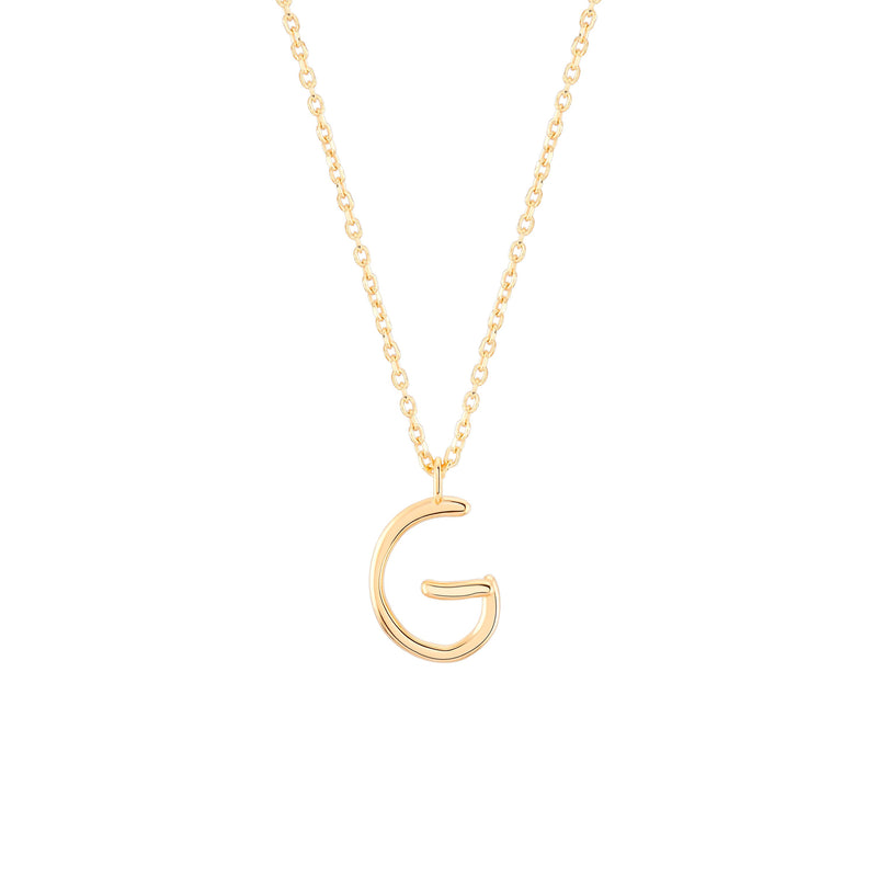 Initial G Necklace