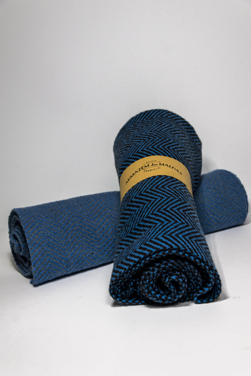 Lambswool Scarf blue