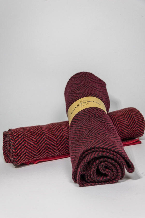 Lambswool Scarf Red