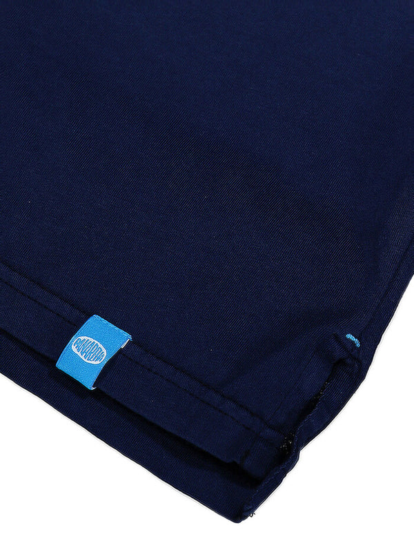 DAIQUIRI Jersey Pocket Polo Navy