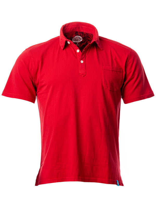 DAIQUIRI Jersey Pocket Polo Red