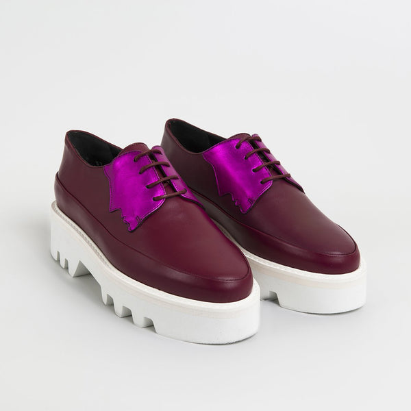 2 FACED - Fuchsia Leather Platform Creepers