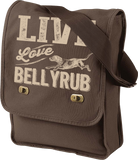 Live, Love, Bellyrub #01 Field Bag - Fuji and Friends Apparel Co. - 1