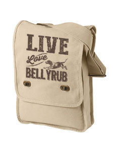 Live, Love, Bellyrub #01 Field Bag
