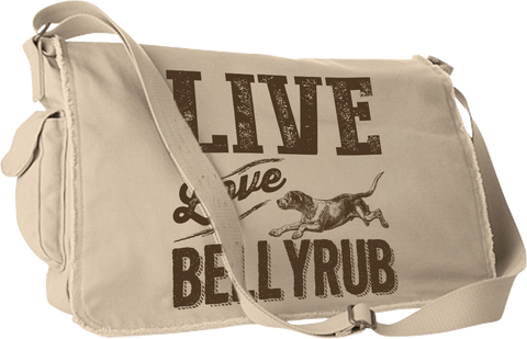 Live, Love, Bellyrub #01 Messenger Bag