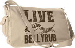 Live, Love, Bellyrub #01 Messenger Bag - Fuji and Friends Apparel Co. - 1