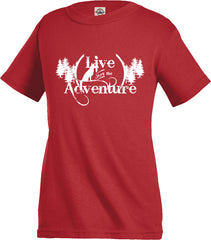 Live for the Adventure Kid's Tee - Fuji and Friends Apparel Co.