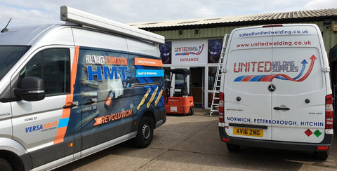 United welding and HMT vans
