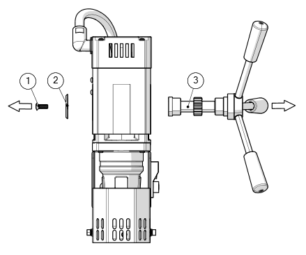 removing magnet drill feed handle