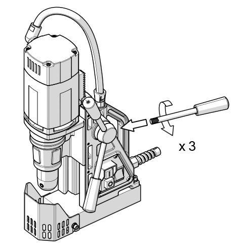 madnet drilling handle fitting assembly