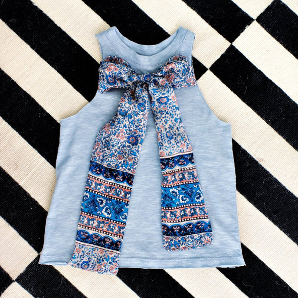 petite doucette* rescued fabric bow tees