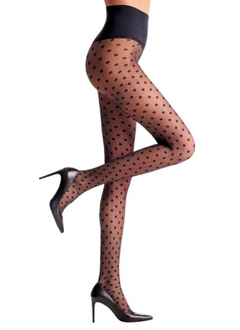 commando ~ polka dot sheer tights black