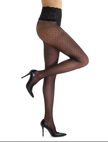 Commando | chic dot sheer tights black