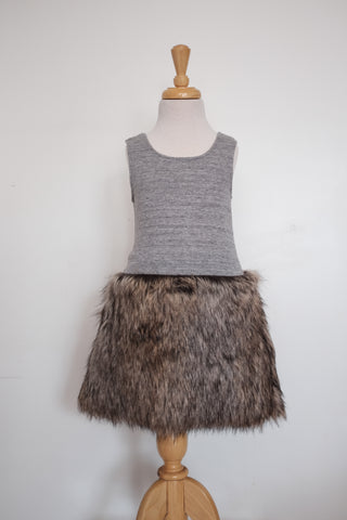 Petite Doucette | jane dress jersey with fur