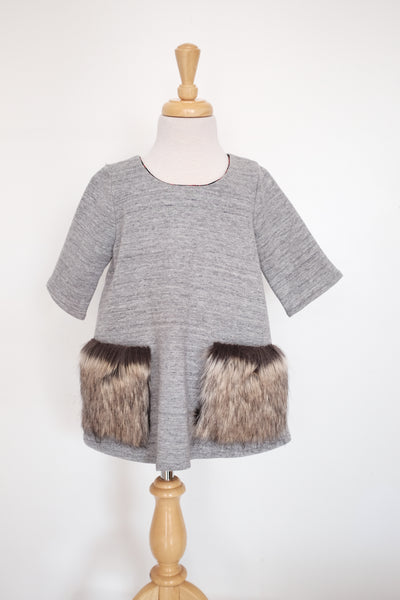 Petite Doucette | charo jersey with fur