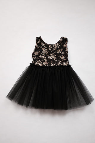 Petite Doucette | fairy dress black floral