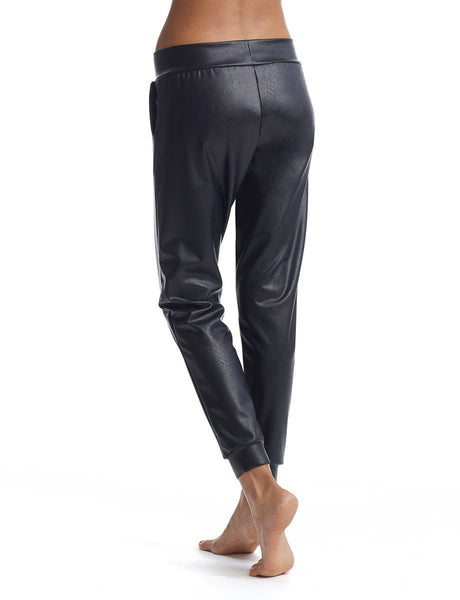 commando | faux leather jogger