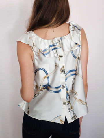 Doucette | Julie blouse in trifecta