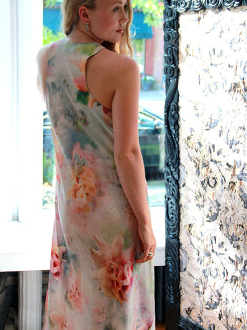 Doucette | lisa marie watercolor floral slip dress