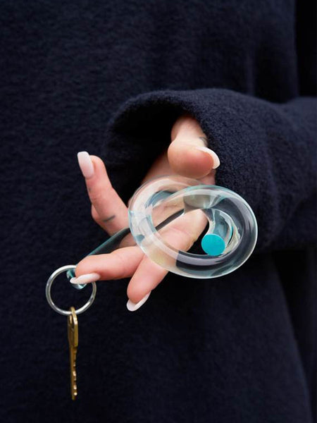 Corey Moranis | lucite knot keychain