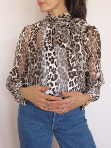 Doucette | mel blouse burnout kitty