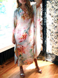 Doucette | crosby watercolor caftan