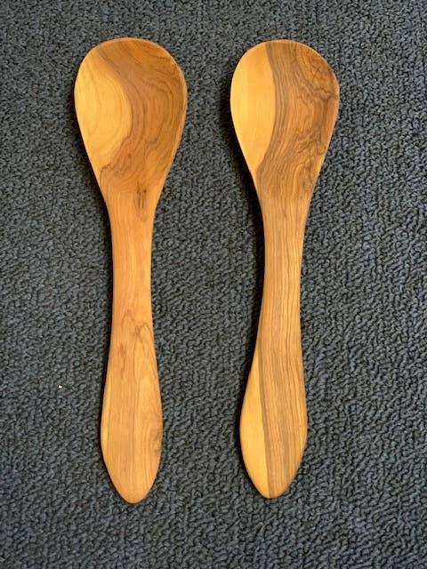 "8"" Wooden Serving Spoon"