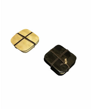 Square Horn Coasters - Set of 4