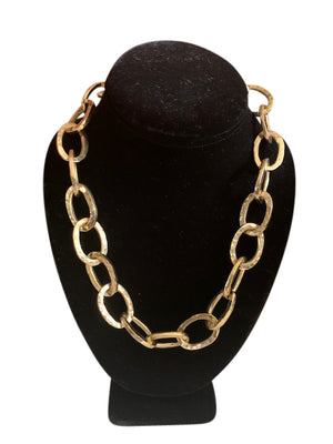 Suzie Brass Chain Link Choker Necklace