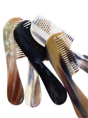 Anti-static Horn Wide Tooth Hair Comb