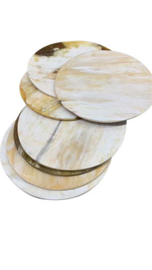 Round Horn Coasters - Set of 4
