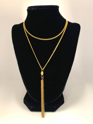 Janet Brass Block Necklace