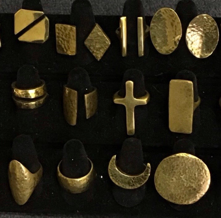 Assorted Brass Fashion Ring Collection