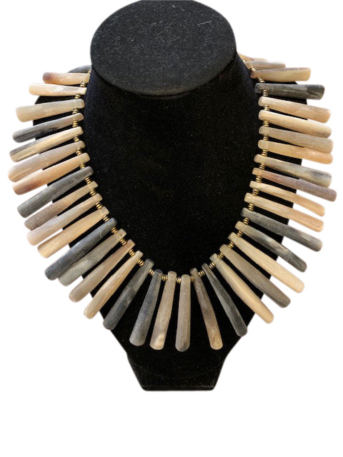 Bone & Horn Spike Necklace