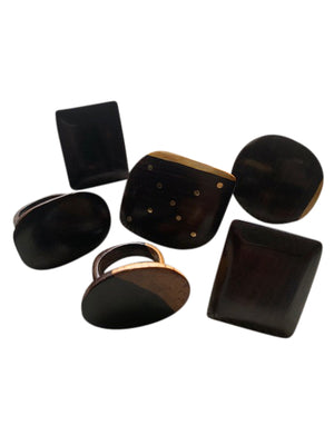 Ebony Wood Fashion Rings