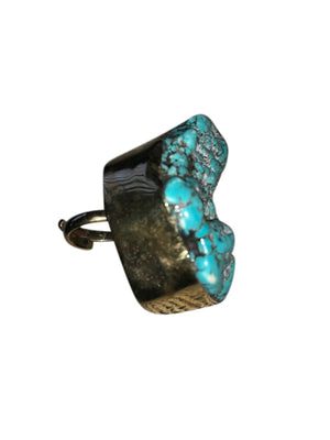 Turquoise Adjustable Stone Funky Rings