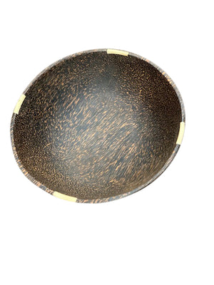 Round Coco-Wood w/ Bone Indent