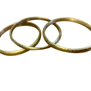 Assorted Brass cylindrical Bangles
