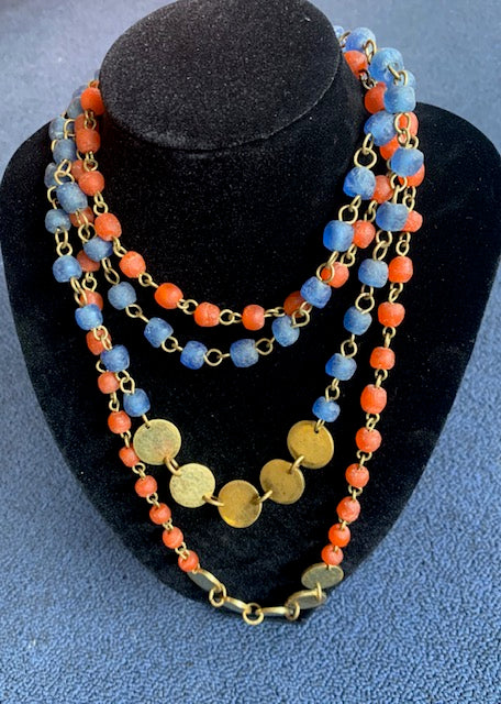 Ngazi Glass stone Bead Necklace