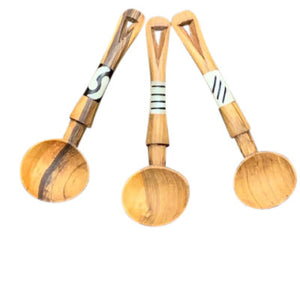 Vee Shaped Wooden Scoops / Spoons
