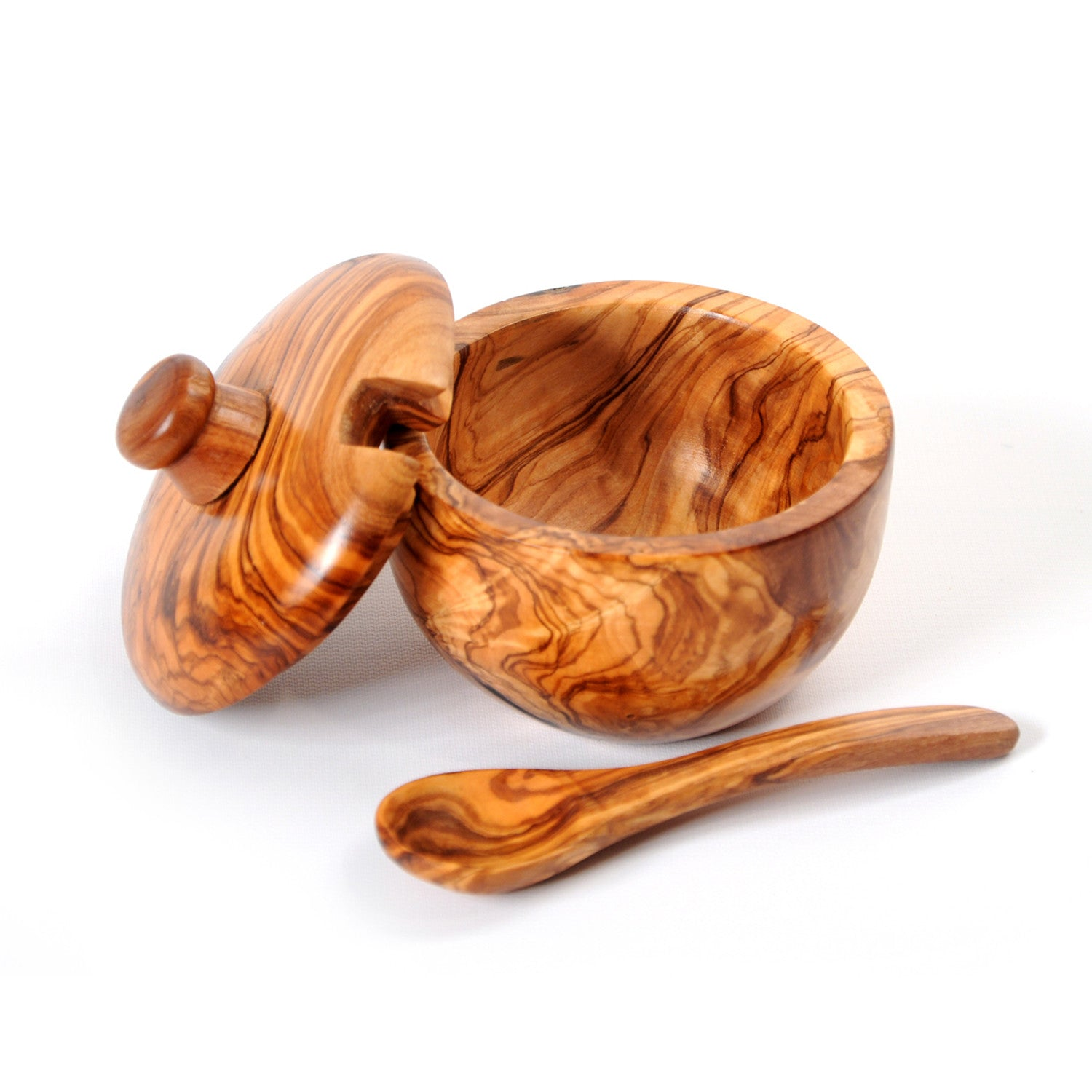 Olive Wood Sugar Bowl