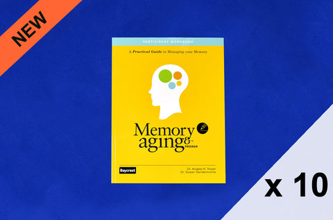 Memory and Aging Program™ Set of 10 Participant Workbooks