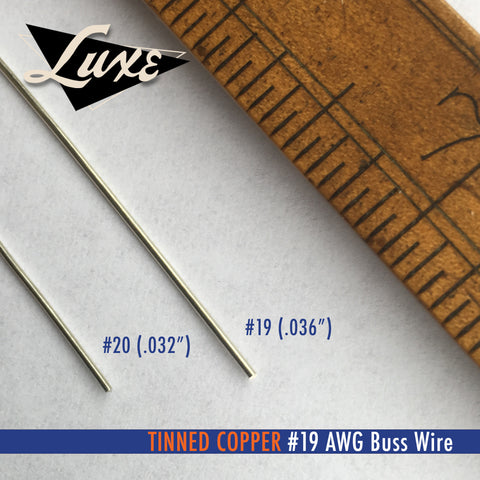 Wire/Tubing #19 AWG Tinned Copper Buss Wire
