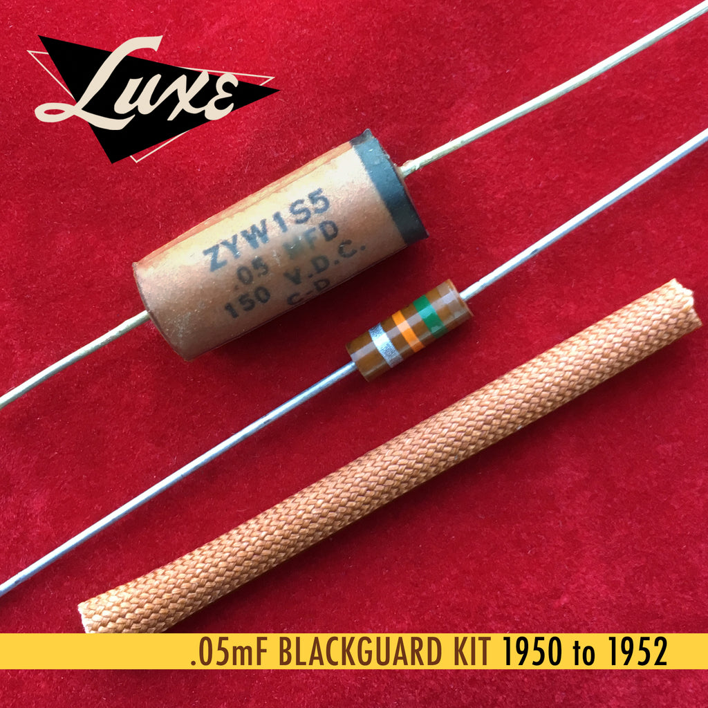 1950-1952 Blackguard/Broadcaster Paper & Foil Capacitor Kit