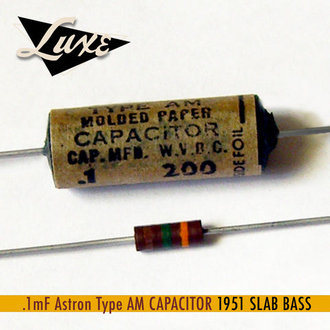 1951 Slab Bass: Astron Wax Impregnated Paper & Foil .1mF Capacitor