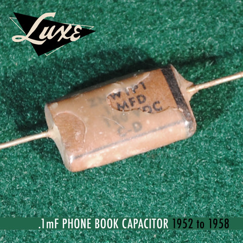 Bulk 1952-1958 Phone Book: Wax Impregnated Paper & Foil .1mF Capacitor