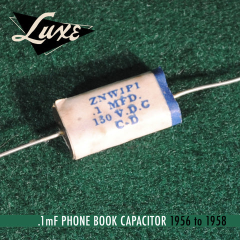 BULK 1956-1958 Phone Book: Wax Impregnated Paper & Foil .1mF Capacitor